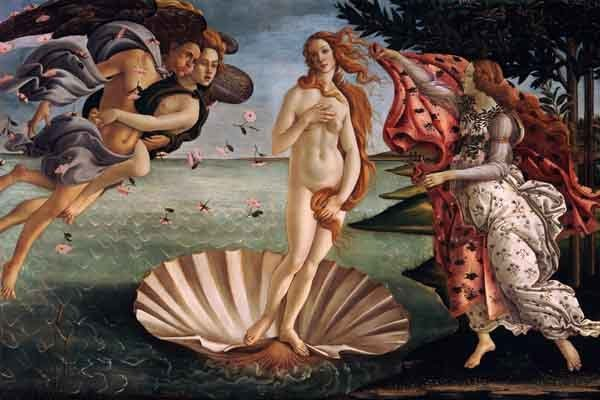 The Birth of Venus, by Sandro Botticelli c. 1486.