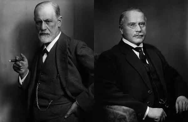 Sigmund Freud (left) and C.G. Jung.
